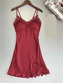 זול חליפות-בגדי ריקוד נשים V עמוק בייבידול וכותנות פיג'מות סרוג