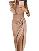 olcso Női ruhák-Női Ízléses Hüvely Ruha - Kollázs, Virágos Egyszínű Térd feletti Aszimmetrikus