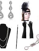 baratos Protetores de Tela para Xiaomi-The Great Gatsby Colar Brinco Pulseira Retro Vintage Anos 20 Gatsby Penas Artificiais Conjuntos de acessórios de fantasia Luvas Colar Para Festa / Coquetel Festival Dia Das Bruxas Carnaval Mulheres