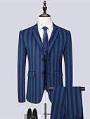 Χαμηλού Κόστους Αντρικά Μπλέιζερ & Κοστούμια-Ανδρικά Στολές, Μονόχρωμο Κλασικό Πέτο Πολυεστέρας Θαλασσί / Λεπτό