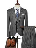 זול בלייזרים וחליפות לגברים-בגדי ריקוד גברים פול שחור אפור XL XXL XXXL חליפות אחיד דש קלאסי רזה