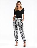 ราคาถูก กางเกงผู้หญิง-สำหรับผู้หญิง Street Chic กางเกง Chinos กางเกง - ลายพิมพ์ ขาว M L XL