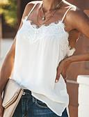 Χαμηλού Κόστους Women's Tanks & Camisoles-Γυναικεία Αμάνικη Μπλούζα Μονόχρωμο Τιράντες Λευκό