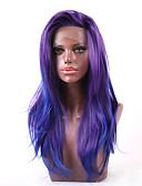 billiga Trosor-U-formad hätta / Spetsfront Rak Kinesisk Spets Syntetiskt hår Dam / Alla Dam / syntetisk / Sexig Lady Fest / afton / Vardag / Karnival / Lila / Afro-amerikansk peruk