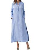 ราคาถูก ชุดเดรสลูกไม้สุดโรแมนติก-สำหรับผู้หญิง พื้นฐาน Street Chic รูปตัว เอ Shift แต่งตัว - แยก, สีพื้น ขนาดใหญ่