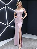 זול שמלות שושבינה-גזרת A לב (סוויטהארט) עד הריצפה ג'רסי שמלה לשושבינה  עם על ידי LAN TING Express