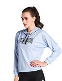 ราคาถูก ชุด-สำหรับผู้หญิง Sweatshirtและมีฮู้ด ตัวอักษรและจำนวน วิ่ง การออกกำลังกาย Hoodie แขนยาว ชุดทำงาน Lightweight แห้งเร็ว นุ่ม Sweat-wicking ยืด