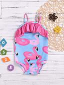 billiga Samsung-tilbehør-Barn Småbarn Spädbarn Flickor Tryck Ärmlös Bomull Badkläder Ljusblå