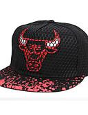 ราคาถูก หมวกเด็ก-ทุกเพศ ลายบล็อคสี เส้นใยสังเคราะห์ พื้นฐาน-หมวกเบสบอล ฤดูใบไม้ผลิ ฤดูร้อน ขาว สีดำ