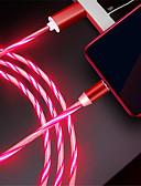 זול כבל & מטענים iPhone-סוג C כבל תשלום מהיר TPE מתאם כבל USB עבור סמסונג / Huawei / Xiaomi