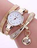 baratos Relógios de quartzo-Mulheres Relógios de Quartzo Fashion Preta Branco Azul Couro PU Quartzo Branco Preto Vermelho Relógio Casual 1 Pça. Analógico Um ano Ciclo de Vida da Bateria / Aço Inoxidável