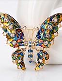 Χαμηλού Κόστους Αξεσουάρ για τα μαλλιά των γυναικών-Γυναικεία Καρφίτσες Φαντασία Πεταλούδα Στυλάτο χαριτωμένο στυλ Καρφίτσα Κοσμήματα Ουράνιο Τόξο Για Γάμου Φεστιβάλ