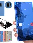 billige Samsung-tilbehør-Etui Til Samsung Galaxy S9 / S9 Plus / S8 Plus Støtsikker / med stativ / Speil Bakdeksel Ensfarget Hard PC
