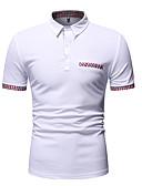 ราคาถูก เสื้อโปโลสำหรับผู้ชาย-สำหรับผู้ชาย ขนาดของยุโรป / อเมริกา Polo ฝ้าย ลายต่อ คอเสื้อเชิ้ต ลายบล็อคสี ขาว