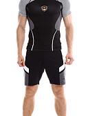 ราคาถูก นาฬิกาข้อมือหรูหรา-สำหรับผู้ชาย กางเกงขาสั้นวิ่งด้วยเสื้อรัดรูป Elastane สายผูก กีฬา กางเกงขาสั้น วิ่ง การออกกำลังกาย ระบายอากาศ แห้งเร็ว Sweat-wicking ลายบล็อคสี แฟชั่น สีดำ