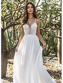 זול שמלות שושבינה-גזרת A צווארון V עד הריצפה שיפון שמלה לשושבינה  עם על ידי LAN TING Express