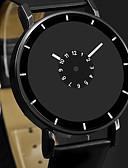 ราคาถูก นาฬิกาสวมใส่เข้าชุด-สำหรับผู้ชาย นาฬิกาตกแต่งข้อมือ นาฬิกาอิเล็กทรอนิกส์ (Quartz) หนัง ดำ / สีขาว นาฬิกาใส่ลำลอง ระบบอนาล็อก แฟชั่น ที่เรียบง่าย ดูง่าย - ขาว สีดำ ดำ / ขาว หนึ่งปี อายุการใช้งานแบตเตอรี่ / สแตนเลส