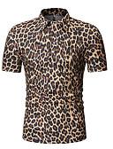 ราคาถูก เสื้อโปโลสำหรับผู้ชาย-สำหรับผู้ชาย ขนาดของยุโรป / อเมริกา Polo ฝ้าย ลายต่อ คอเสื้อเชิ้ต หมากรุก สีเทา