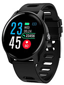 billige Smartwatch Bands-Smartklokke Digital Moderne Stil Sport Silikon 30 m Vannavvisende Pulsmåler Bluetooth Digital Fritid Utendørs - Svart Hvit Blå