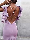 זול סטים של ביגוד לבנות-מידי גב חשוף קפלים טלאים, אחיד - שמלה סווינג בסיסי בגדי ריקוד נשים