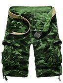 ราคาถูก กางเกงผู้ชาย-สำหรับผู้ชาย พื้นฐาน เพรียวบาง กางเกงขาสั้น กางเกง - Patterned สีบานเย็น อาร์มี่ กรีน สีน้ำเงิน M L XL