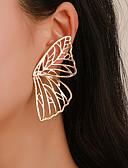 ราคาถูก ชุด-สำหรับผู้หญิง ต่างหูติดหู Butterfly Punk อินเทรนด์ ทองชุบ ต่างหู เครื่องประดับ สีทอง / สีเงิน สำหรับ ของขวัญ ทุกวัน เทศกาลคานาวาล คลับ 1 คู่
