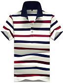 זול חולצות פולו לגברים-פסים צווארון חולצה רזה Polo - בגדי ריקוד גברים תלתן
