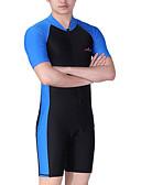 ราคาถูก ชุดดำน้ำ-Dive&Sail สำหรับผู้ชาย ดำน้ำที่เหมาะกับสภาพผิว ชุดดำน้ำ SPF50 การป้องกันรังสียูวี แห้งเร็ว แขนสั้น ซิปรูดด้านหน้า - การว่ายน้ำ การดำน้ำ Surfing ลายต่อ / ความยืดหยุ่นสูง