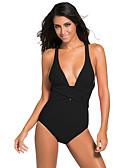 ราคาถูก หมวกสตรี-สำหรับผู้หญิง ชุดว่ายน้ำ Elastane Bodysuit ระบายอากาศ แห้งเร็ว เสื้อไม่มีแขน การว่ายน้ำ กีฬาทางน้ำ สีพื้น ฤดูร้อน