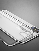 זול מגנים לטלפון-מגן עבור Apple iPhone XS / iPhone XR / iPhone XS Max עמיד בזעזועים / שקוף כיסוי אחורי אחיד / שקוף רך TPU
