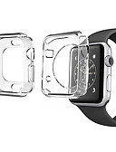 baratos Caso Smartwatch-2 pack para apple watch series 4 3 2 1 protetor de tela capa case macio claro fino 40mm 44mm 38mm 42mm