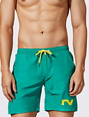 ราคาถูก กางเกงผู้ชาย-สำหรับผู้ชาย พื้นฐาน เพรียวบาง กางเกงขาสั้น กางเกง - สีพื้น ทับทิม สีเหลือง สีฟ้า M L XL