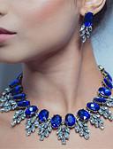 ราคาถูก ชุดว่ายน้ำและบิกินีผู้หญิง-สำหรับผู้หญิง สีดำ สีน้ำเงิน หลายสี คริสตัล Drop Earrings สร้อยคอ ทางเรขาคณิต มีความสุข ศิลปะ คลาสสิก อินเทรนด์ ต่างหู เครื่องประดับ สายรุ้ง / แดง / ฟ้า สำหรับ งานแต่งงาน ปาร์ตี้ ของขวัญ Street เทศกาล