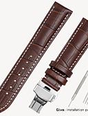 זול רצועת שעונים-תחליף tissot 1853 גברים של עור לצפות עם נעל נשים עור casio longines צמיד אביזרים 16/18/19 / 20mm