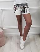 olcso nadrág-Női Alap Rövidnadrágok Nadrág - Virágos Magas derék Fekete Arcpír rózsaszín M L XL