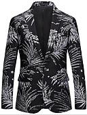 זול ז'קטים-שחור מעוטר גזרה צרה כותנה / פוליאסטר חליפה - פתוח Single Breasted Two-button