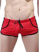 זול תחתוני גברים אקזוטיים-בגדי ריקוד גברים בסיסי בוקסר ניילון חלק 1 מותן נמוך