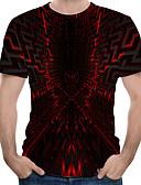 povoljno Samsung - Zaštitne folije-Veći konfekcijski brojevi Majica s rukavima Muškarci Color block Okrugli izrez Red