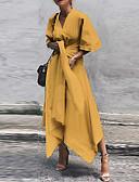 זול שמלות מודפסות-א-סימטרי אחיד - שמלה נדן בגדי ריקוד נשים