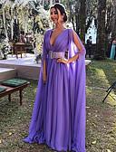 Χαμηλού Κόστους Λουλουδάτα φορέματα για κορίτσια-Γυναικεία Κομψό Swing Φόρεμα - Μονόχρωμο Μακρύ
