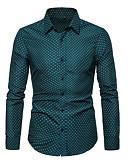 baratos Camisas Masculinas-Homens Tamanhos Grandes Camisa Social Poá Branco
