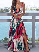 זול שמלות מקסי-מקסי גב חשוף, גיאומטרי - שמלה נדן בוהו מתוחכם בגדי ריקוד נשים