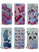 billige iPhone-etuier-veske til huawei samsung galaxy a70 (2019) / a7 (2018) / huawei p smart (2019) mønster / flip / med stå hele kroppen tilfeller glitter glans / panda / blomst hard pu lær for huawei y6 (2018) / huawei