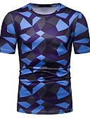 povoljno Muški šalovi-Veličina EU / SAD Majica s rukavima Muškarci Color block Kragna košulje Plava