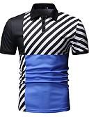 povoljno Muške polo majice-Polo Muškarci Color block Kragna košulje Plava