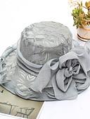 ราคาถูก หมวกสตรี-สำหรับผู้หญิง ลายดอกไม้ สังเคราะห์ ตารางไขว้ ซึ่งทำงานอยู่ พื้นฐาน สไตล์น่ารัก-หมวกปีกกว้าง ดวงอาทิตย์หมวก ทุกฤดู ผ้าขนสัตว์สีธรรมชาติ สีเทา สีกากี