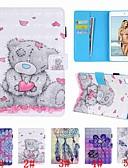billige iPhone-etuier-Etui Til Apple iPad Air / iPad 4/3/2 / iPad (2018) Lommebok / Kortholder / Støtsikker Heldekkende etui Sommerfugl / Dyr / Blomsternål i krystall Hard PU Leather / iPad (2017)