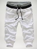 ราคาถูก กางเกงผู้ชาย-สำหรับผู้ชาย พื้นฐาน กางเกง Chinos กางเกง - หลายสี สีดำ สีเทา ไวน์ L XL XXL
