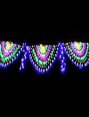 baratos Suéteres & Cardigans Masculinos-4m Cordões de Luzes 420 LEDs RGB + Branco Impermeável / Criativo / Festa 220-240 V 1conjunto