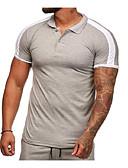 billiga Herrunderkläder och strumpor-Enfärgad T-shirt Herr Smal Rubinrött